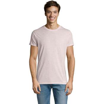 Υφασμάτινα Άνδρας T-shirt με κοντά μανίκια Sols REGENT FIT CAMISETA MANGA CORTA Rosa
