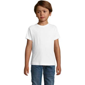 Υφασμάτινα Αγόρι T-shirt με κοντά μανίκια Sols REGENT FIT CAMISETA MANGA CORTA Blanco