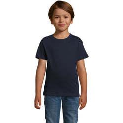 Υφασμάτινα Αγόρι T-shirt με κοντά μανίκια Sols REGENT FIT CAMISETA MANGA CORTA Azul