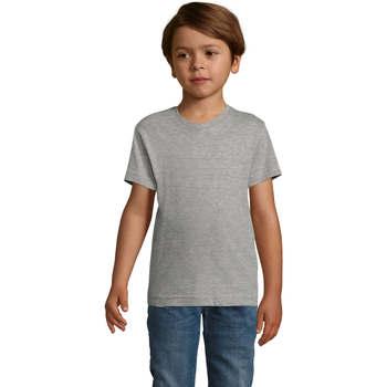 Υφασμάτινα Αγόρι T-shirt με κοντά μανίκια Sols REGENT FIT CAMISETA MANGA CORTA Gris