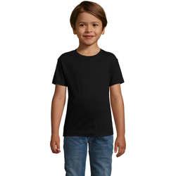 Υφασμάτινα Αγόρι T-shirt με κοντά μανίκια Sols REGENT FIT CAMISETA MANGA CORTA Negro