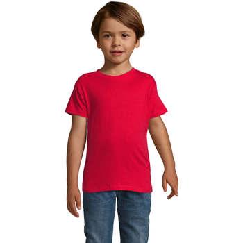 Υφασμάτινα Αγόρι T-shirt με κοντά μανίκια Sols REGENT FIT CAMISETA MANGA CORTA Rojo