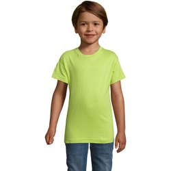 Υφασμάτινα Αγόρι T-shirt με κοντά μανίκια Sols REGENT FIT CAMISETA MANGA CORTA Verde
