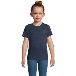 Υφασμάτινα Παιδί T-shirt με κοντά μανίκια Sols REGENT FIT CAMISETA MANGA CORTA Azul