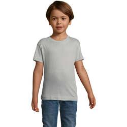 Υφασμάτινα Παιδί T-shirt με κοντά μανίκια Sols REGENT FIT CAMISETA MANGA CORTA Gris