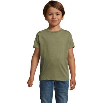 Υφασμάτινα Παιδί T-shirt με κοντά μανίκια Sols REGENT FIT CAMISETA MANGA CORTA Kaki