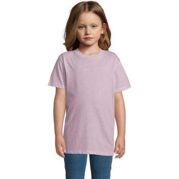 Υφασμάτινα Παιδί T-shirt με κοντά μανίκια Sols REGENT FIT CAMISETA MANGA CORTA Rosa