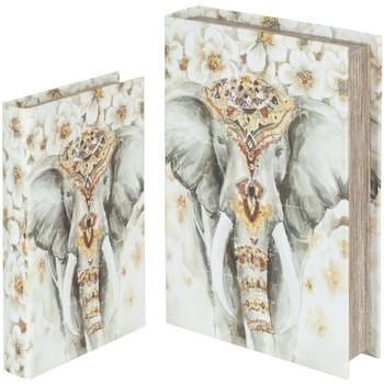 Σπίτι Καλάθια, κουτιά Signes Grimalt Κιβώτια Βιβλίων Ελέφαντα Set 2U Multicolor