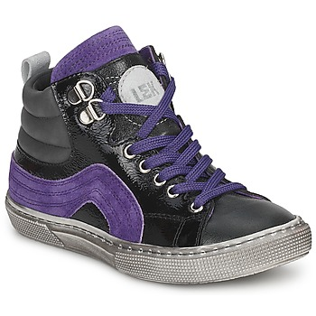 Παπούτσια Αγόρι Ψηλά Sneakers Little Mary OPTIMAL Black / Violet