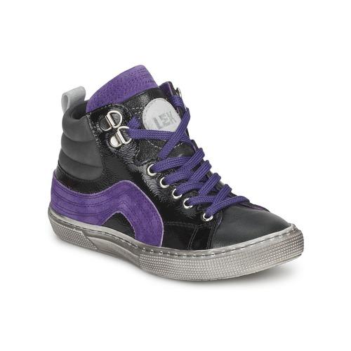 Παπούτσια Αγόρι Ψηλά Sneakers Little Mary OPTIMAL Black / Violet