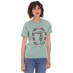 Υφασμάτινα Γυναίκα T-shirt με κοντά μανίκια Trussardi 56T00371-1T005228 Πράσινος
