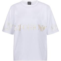 Υφασμάτινα Γυναίκα T-shirt με κοντά μανίκια Ea7 Emporio Armani 3KTT18 TJ29Z λευκό