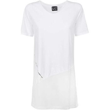 Υφασμάτινα Γυναίκα T-shirt με κοντά μανίκια Ea7 Emporio Armani 3KTT36 TJ4PZ λευκό