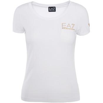 Υφασμάτινα Γυναίκα T-shirt με κοντά μανίκια Ea7 Emporio Armani 8NTT65 TJ28Z λευκό