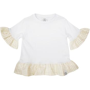 Υφασμάτινα Κορίτσι T-shirt με κοντά μανίκια Naturino 6001011 01 λευκό