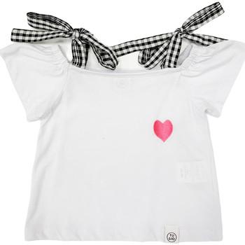 Υφασμάτινα Κορίτσι T-shirt με κοντά μανίκια Naturino 6001013 01 λευκό