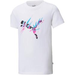 Υφασμάτινα Παιδί T-shirt με κοντά μανίκια Puma 605559 λευκό