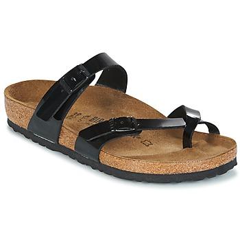 Παπούτσια Γυναίκα Τσόκαρα Birkenstock MAYARI Black / Verni