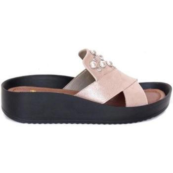 Παπούτσια Γυναίκα Τσόκαρα Rieker Rosa Pink Slippers Pink