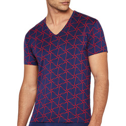 Υφασμάτινα Άνδρας T-shirt με κοντά μανίκια I Am What I Wear 1300J87 K72 Μπλέ