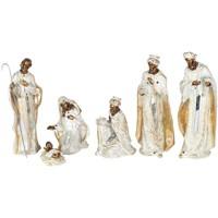 Σπίτι Χριστουγεννιάτικα διακοσμητικά Signes Grimalt Γέννηση 6 Τεμάχια Set 6U Blanco