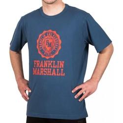 Υφασμάτινα Άνδρας T-shirt με κοντά μανίκια Franklin & Marshall T-shirt Franklin & Marshall Classique bleu marine