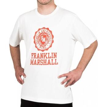 Υφασμάτινα Άνδρας T-shirt με κοντά μανίκια Franklin & Marshall T-shirt Franklin & Marshall Classique blanc crème