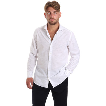 Υφασμάτινα Άνδρας Πουκάμισα με μακριά μανίκια Les Copains 20P500 P3196SL λευκό