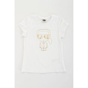 Υφασμάτινα Κορίτσι T-shirt με κοντά μανίκια Karl Lagerfeld Kids 2007069 Bianco