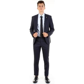 Υφασμάτινα Άνδρας Κοστούμια Manuel Ritz 2832A3109-203456 Blu