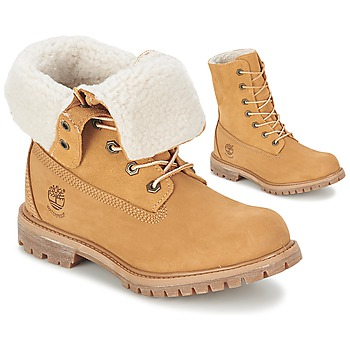 Παπούτσια Γυναίκα Μπότες Timberland AUTHENTICS TEDDY FLEECE WP FOLD DOWN COGNAC /  CLAIR