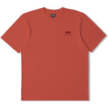 Υφασμάτινα T-shirt με κοντά μανίκια Edwin T-shirt  logo rouge