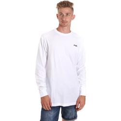 Υφασμάτινα Άνδρας Μπλουζάκια με μακριά μανίκια Fila 687606 λευκό