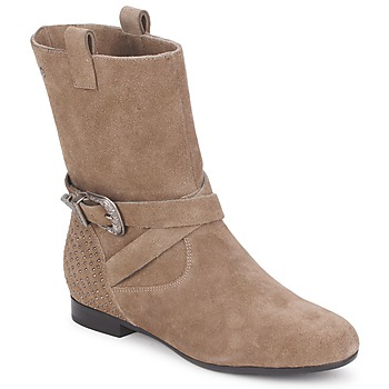 Παπούτσια Γυναίκα Μπότες Couleur Pourpre TAMA Taupe