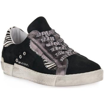 Παπούτσια Γυναίκα Χαμηλά Sneakers At Go GO 4102 VELOUR NERO Nero