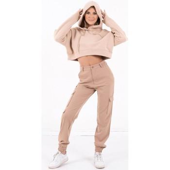 Υφασμάτινα Γυναίκα Φούτερ Sixth June Sweatshirt Crop Top femme  Acid Printed beige