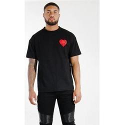 Υφασμάτινα Άνδρας T-shirt με κοντά μανίκια Sixth June T-shirt  Oversize noir