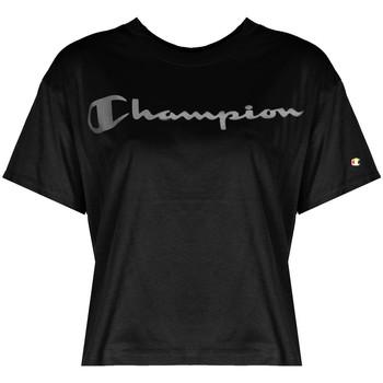 Υφασμάτινα Γυναίκα T-shirt με κοντά μανίκια Champion  Black