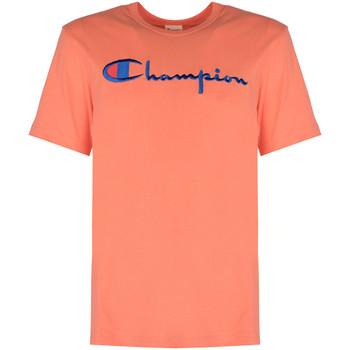 Υφασμάτινα Άνδρας T-shirt με κοντά μανίκια Champion  Ροζ