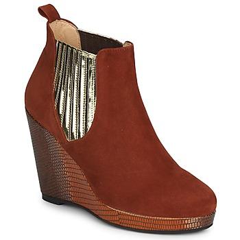Παπούτσια Γυναίκα Χαμηλές Μπότες MySuelly LEON Rouille / Dore