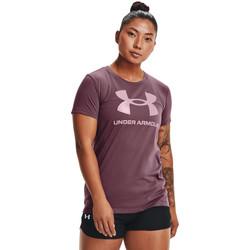 Υφασμάτινα Γυναίκα Πόλο με κοντά μανίκια  Under Armour Sportstyle Graphic Μωβ