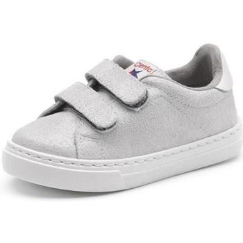 Παπούτσια Κορίτσι Χαμηλά Sneakers Cienta Chaussures fille  Deportivo Scractch Glitter gris clair