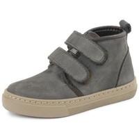 Παπούτσια Κορίτσι Ψηλά Sneakers Cienta Bottines fille  Doble Velcro On Napa gris anthracite
