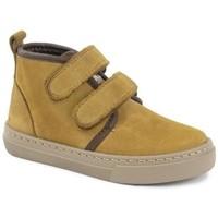 Παπούτσια Κορίτσι Μπότες Cienta Bottines fille  Doble Velcro On Napa jaune orangé