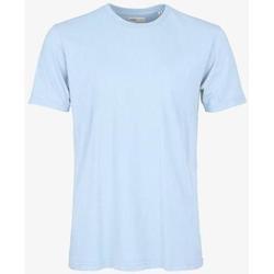 Υφασμάτινα T-shirt με κοντά μανίκια Colorful Standard T-shirt  Polar Blue bleu pâle