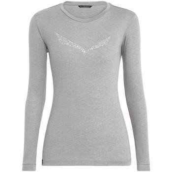 Υφασμάτινα Γυναίκα Μπλουζάκια με μακριά μανίκια Salewa Solidlogo Dry W L/S Tee 27341-0624 grey