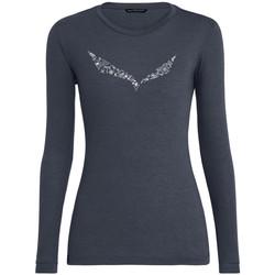 Υφασμάτινα Γυναίκα Μπλουζάκια με μακριά μανίκια Salewa Solidlogo Dry W L/S Tee 27341-3986 navy