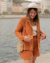 Υφασμάτινα Γυναίκα Σακάκι / Blazers Céleste SASSAFRAS Camel