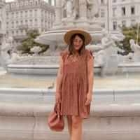 Υφασμάτινα Γυναίκα Κοντά Φορέματα Céleste DAHLIA Multicolour
