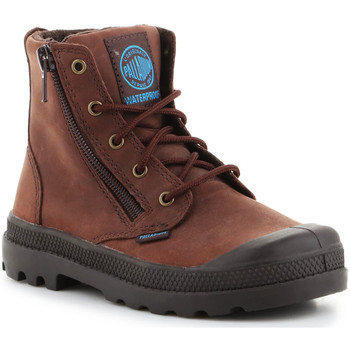 Παπούτσια Παιδί Μπότες Palladium Pampa Hi Lea Gusset 52744255 brown